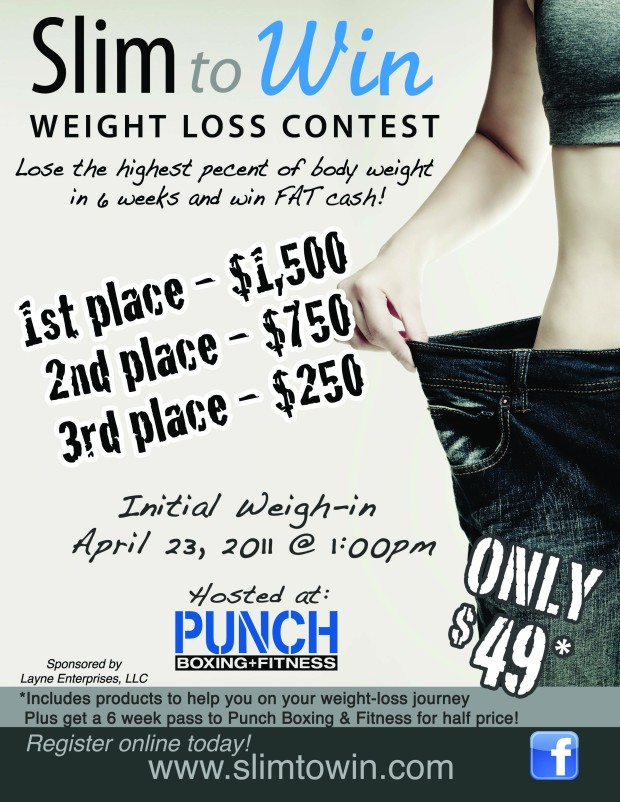 Slim to win weight loss contest awaken champions for Weight loss challenge flyer template